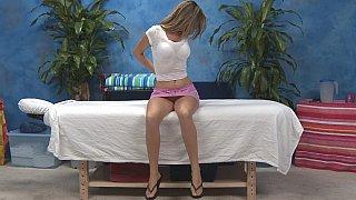 Kara gets her clothes off. Massage