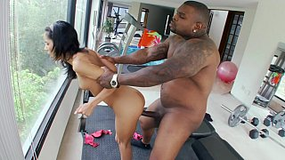 Fat black cock for a petite cutie Tia Cyrus