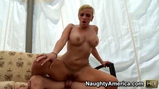 Juicy whore Skyla Paris rides fat cock fast and wild!