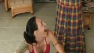 Mom catches daughter giving blowjob to her son - Hotmoza.com