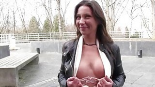 Sexy freak takes a few Euros for a sex