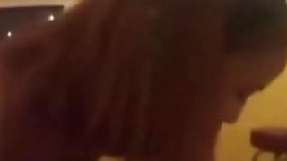 Super hot ebony gets fucked in POV interracial action