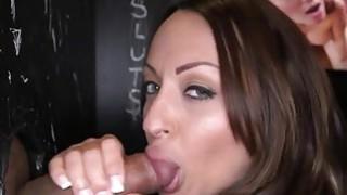 Pretty darling captivates with blow job pleasures