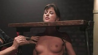 Explicit pussy punishment for an sex thrall