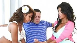 Busty milf Bianka 3some with teen couple