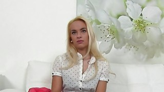 Fake agent shoves dick into blondes cunt in casting