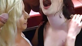 Slutty Euro Babes Gets Golden Shower And Suck Cocks