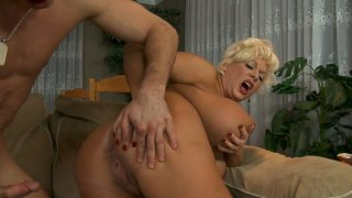 Fatty short haired milf desires getting fucked doggy