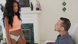 Teen Nia Nacci gets creampie by stepdad