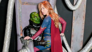 Supergirl taking care of business