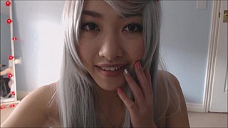 Silver hair cosplay fuck